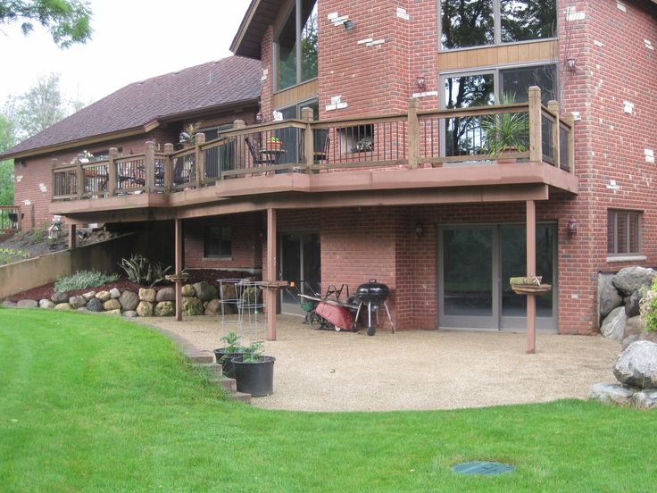 Walk out basement landscaping patios and decks pinterest Walkout basement landscaping pictures