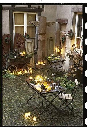 Plein de bougies id e d co terrasse r cup pinterest - Idee deco terrasse ...