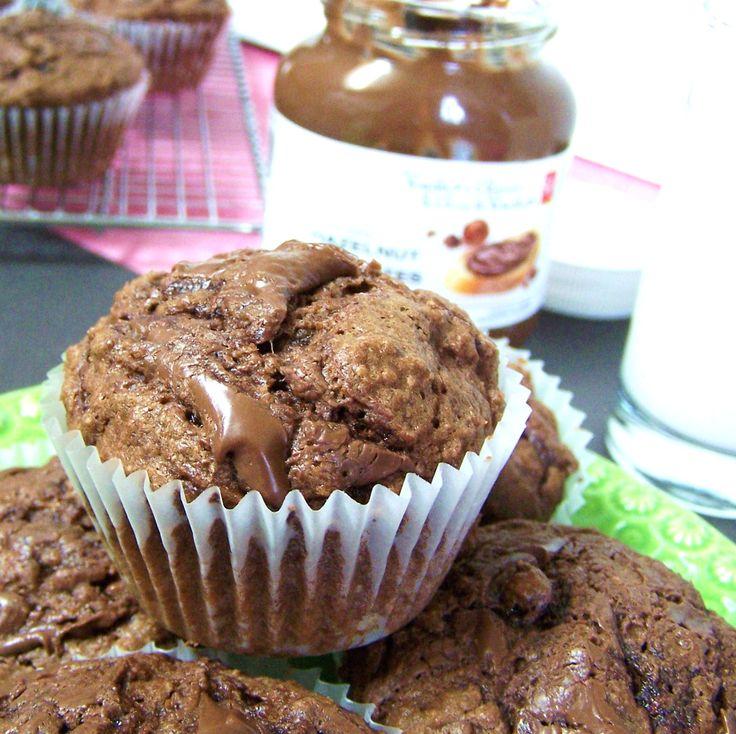 "Zucchini Muffins with ""Nutella"" Swirl | Zucchini | Pinterest"
