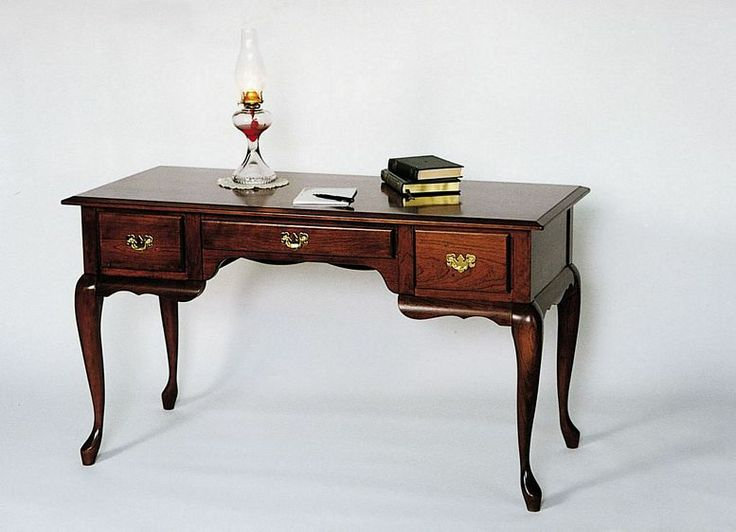 queen anne writing desk Desk /queen anne ladies writing desk / vanity vintage french provincial make -up vanity custom paint to order poppy cottage painted furniture.