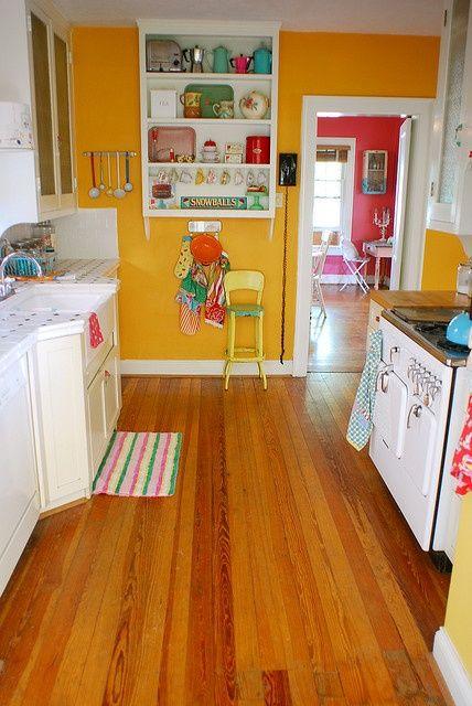 yellow orange kitchen kitchen ideas pinterest