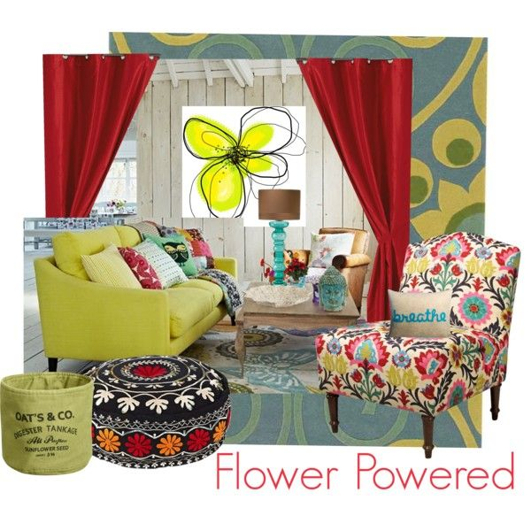 """Flower Powered Home"" by sisterlisak on Polyvore"