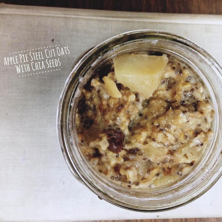 Helen Ethel Studio: Overnight Apple Pie Steel Cut Oats