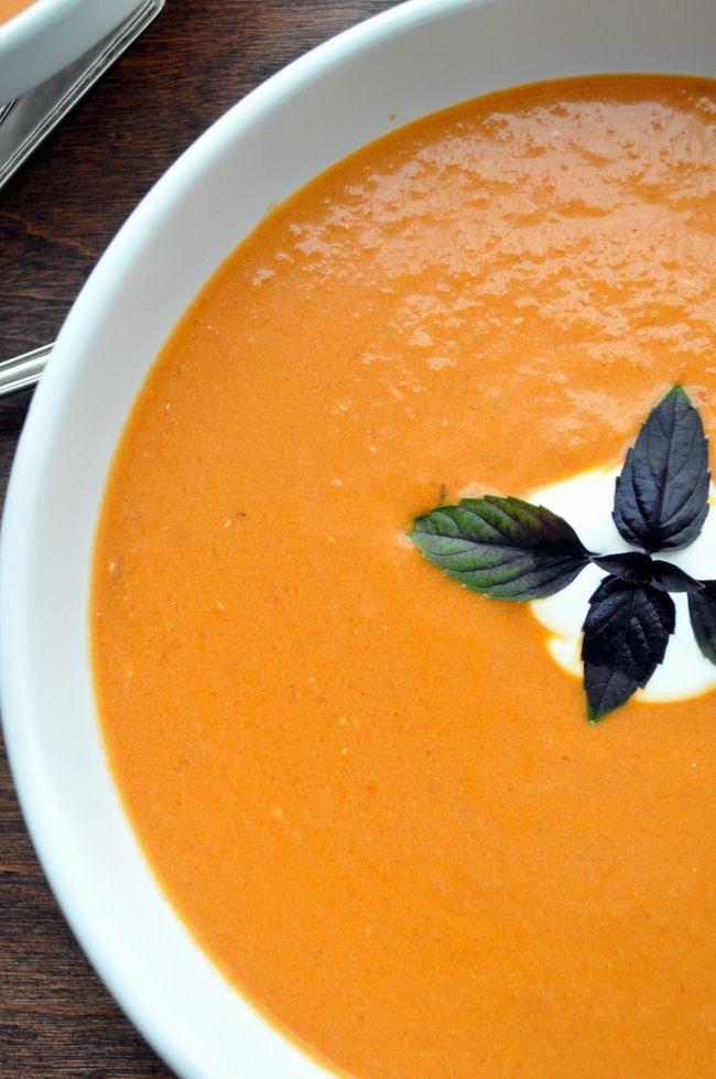 Chipotle Creamy Tomato Soup | farmgirlgourmet.com