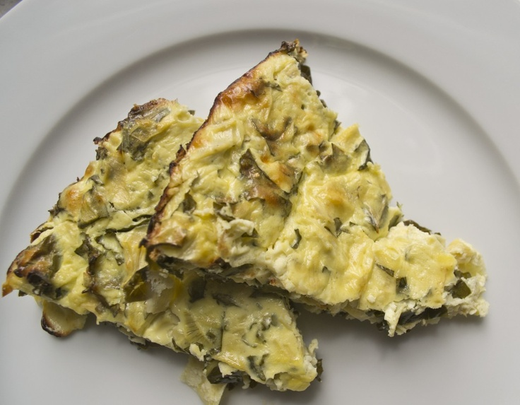 Artichoke, Kale + Ricotta Pie: olive oil, 4 eggs, 8oz ricotta cheese ...