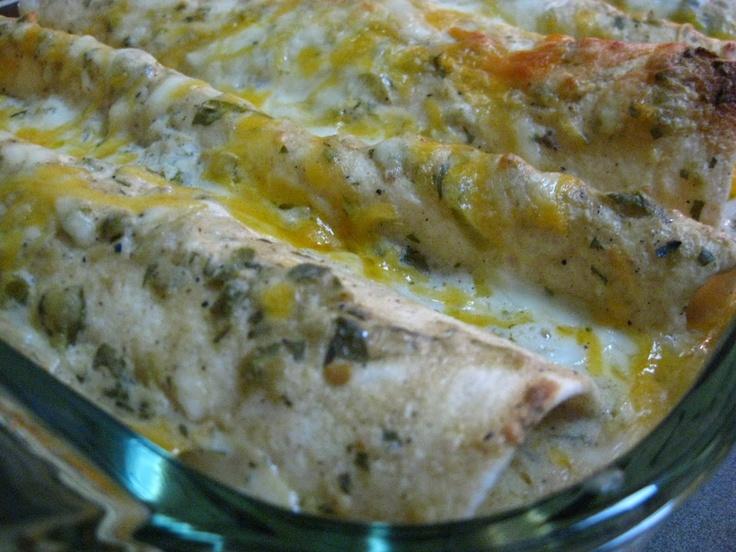 Salsa Verde Chicken Enchiladas | latin / mexican | Pinterest