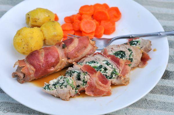 Involtini di Maiale--pork tenderloin filets stuffed with ricotta and ...