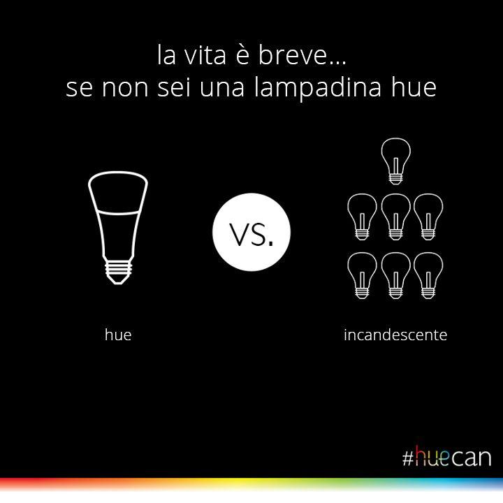 lampadina hue : La vita ? breve? se non sei una lampadina Hue #MeetHue #HueCan