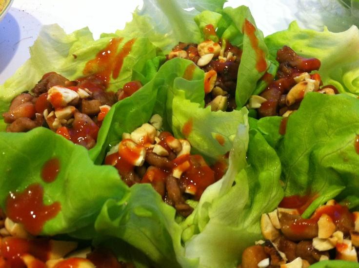 Stir-Fried Chicken In Lettuce Cups Recipes — Dishmaps