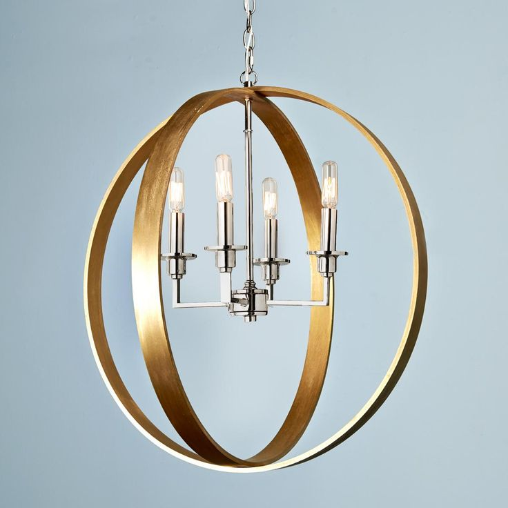 Wood rings orbit chandelier available in 3 colors gold for Natural wood chandelier