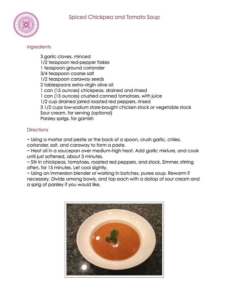 Spiced Chickpea and Tomato Soup Recipe | Recipes | Pinterest
