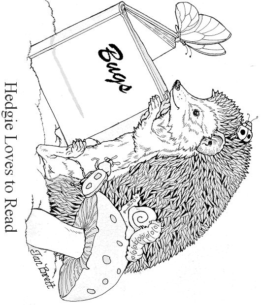 Author Jan Bretts Free Coloring Pages