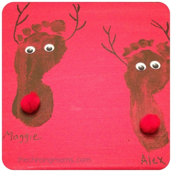 Reindeer Footprints | Infant activities | Pinterest