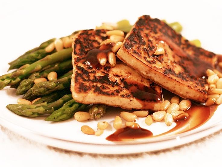 Caramelized Tofu with Asparagus   tofu   Pinterest