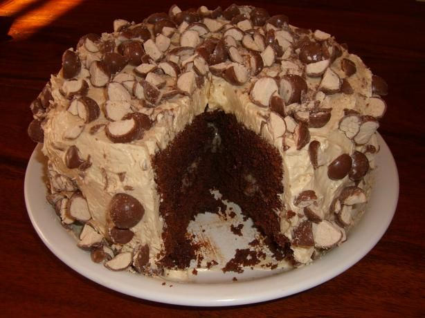 Triple Malted Chocolate Cake With Vanilla Malted Frosting Recipe ...