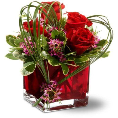 valentine glass rose wholesale