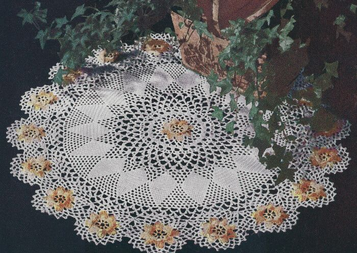 Free Vintage Irish Crochet Patterns : Vintage Crochet PATTERN Ivy Irish Rose Doily