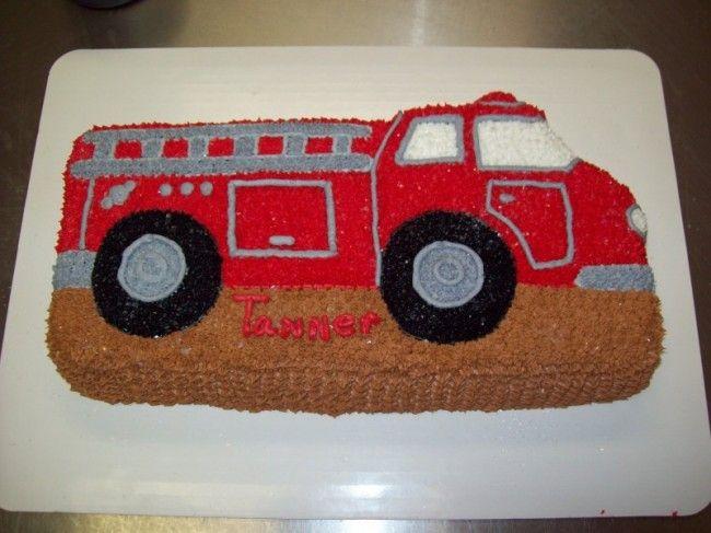 Fire Truck Cake Cakes Pinterest