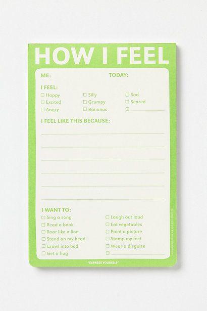 How I Feel Notepad
