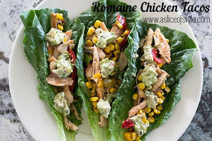 Simple Romaine Chicken Tacos