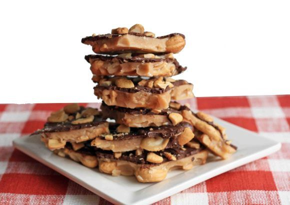 chocolate cashew brittle. This is delicious and easy. Next time I will ...