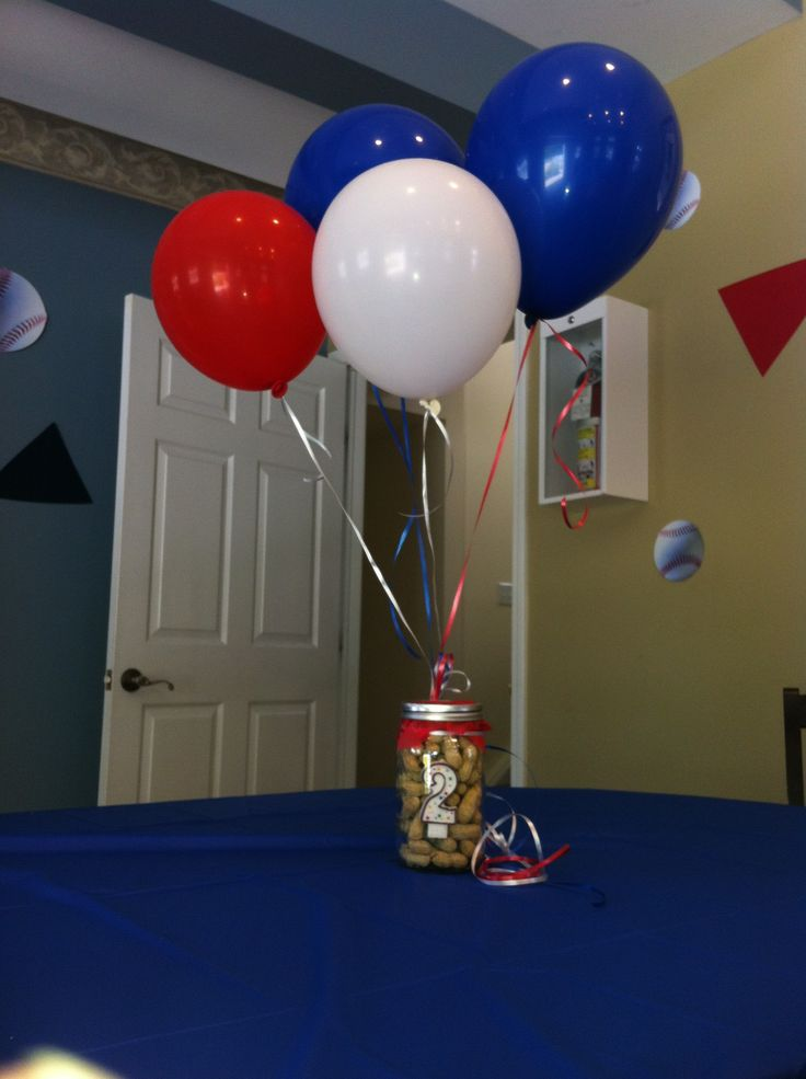 Retro baseball centerpieces hudson s nd birthday