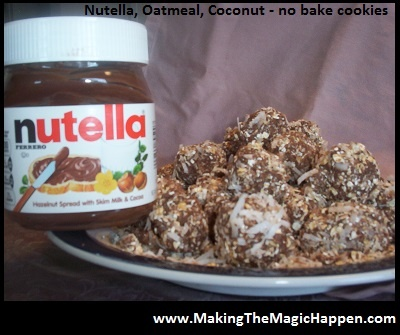 Nutella Cookies - Oatmeal #No Bake Cookies www.makingthemagichappen ...