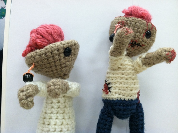 Crochet Zombie : crochet ZOMBIES!!!! Love! zombies Pinterest