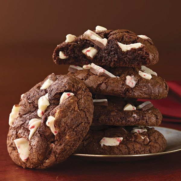 Ghirardelli Chocolate Peppermint Cookies | http://www.ghirardelli.com ...