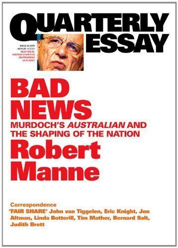 robert manne quarterly essay australia