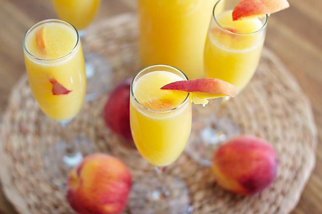 Peach Mimosas | B. Britnell: a Simple Food Blog.