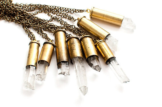 Crystal Bullet Pendant by Josign Art