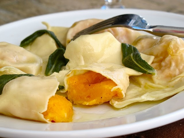 bacon sage sauce fresh ricotta and egg ravioli with brown butter brown ...