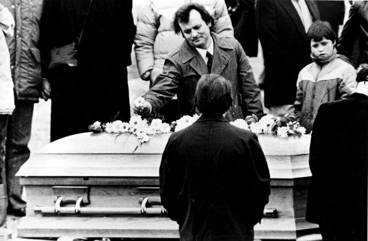 Bill Murray at John Belushi's funeral   Pensive, Sober ...