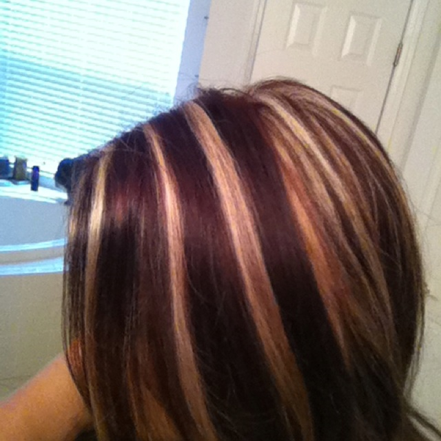 Red Hair with Blonde Highlights Pinterest