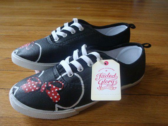 Custom Disney's Minnie Mouse Shoes Girls/Womens by FanBoyApparel