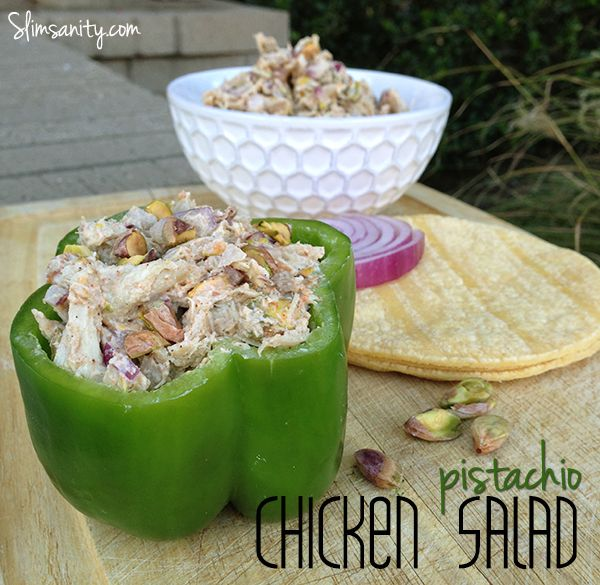 Pistachio Chicken Salad - Includes how to easily shred chicken thigh ...