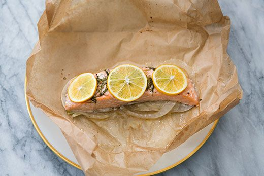 Salmon with Fennel Baked in Parchment | Recipe