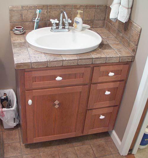 Tiled Bathroom Vanity Tops : Tiled vanity top bathroom remodel pinterest