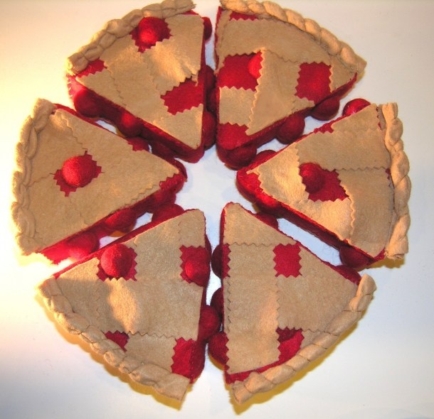 Free Felt Food Tutorial Cherry Pie