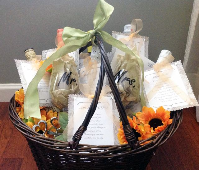 Bridal Shower Wine Gift Basket Ideas : bridal showers