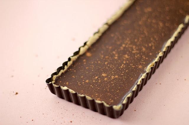 Dark Chocolate Peppermint Tart (no bake, GF, vegan)