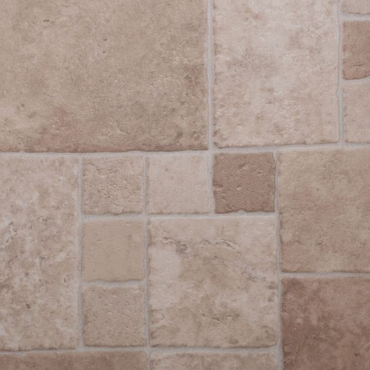 Thick vinyl flooring beige multi sized tile lino for Lino flooring for bathrooms