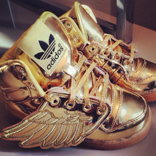 Adidas gold wing baby shoes