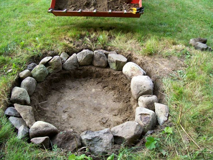 Diy firepit diy pinterest for How to build a round fire pit