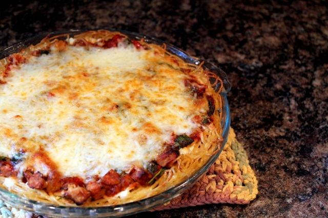Veggie spaghetti pie | Meals | Pinterest