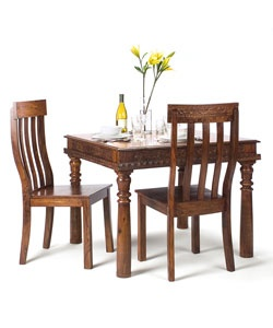 hand carved rosewood dining table chairs set india