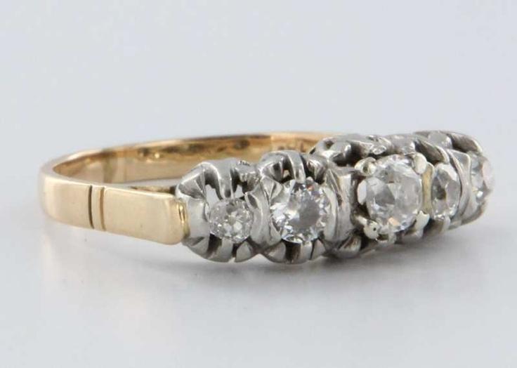 Vintage 18K wedding ring Bridal