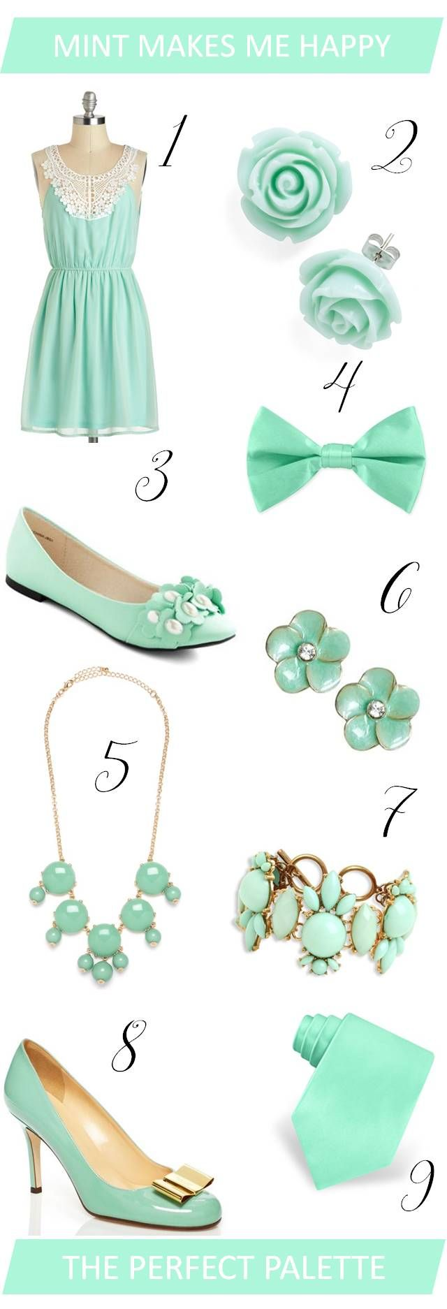 The Perfect Palette: {Wedding Wardrobe}: Mint