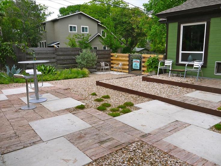 Grassless backyard projects pinterest for Grassless garden designs